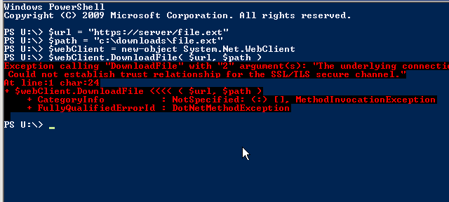 powershell – download file from server via https which has a self signed certificate