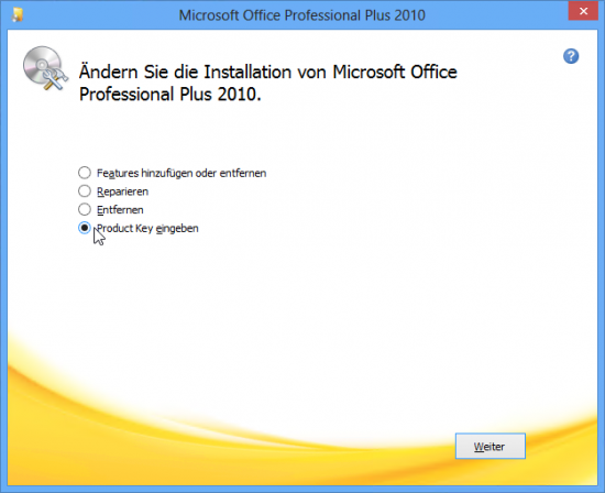 how to change my product key for microsoft office 2013